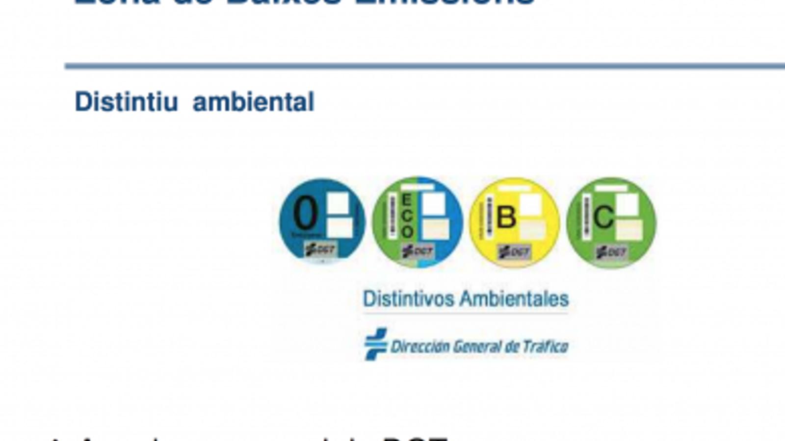 Canvis al calendari de la zona de baixes emissions de Barcelona