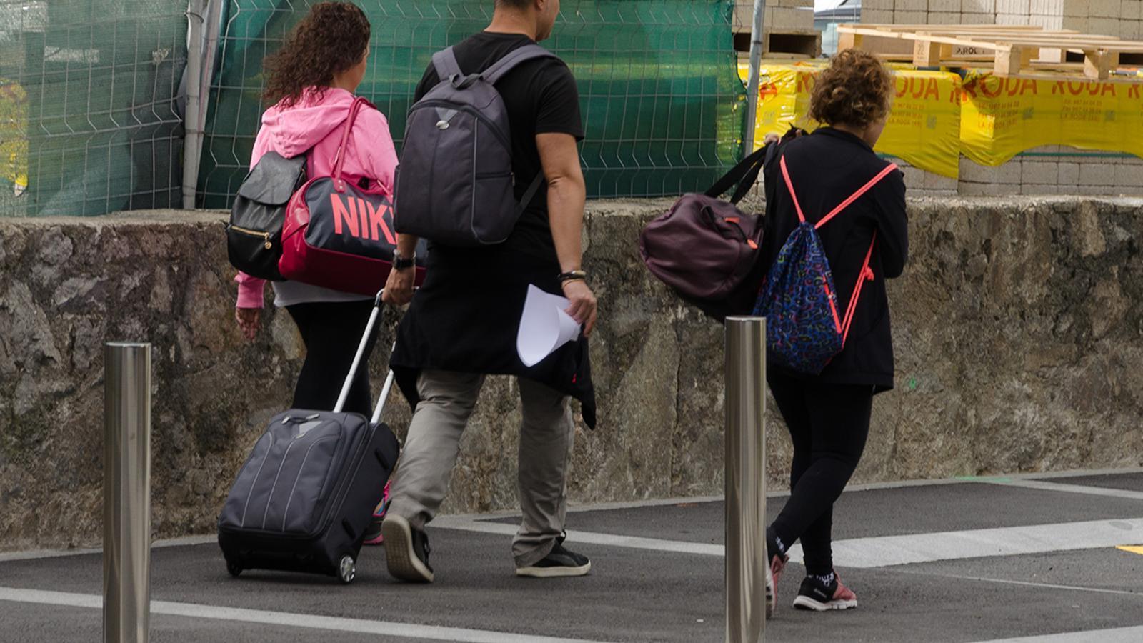 Turistes en un carrer d'Escaldes-Engordany. / ARXIU ANA