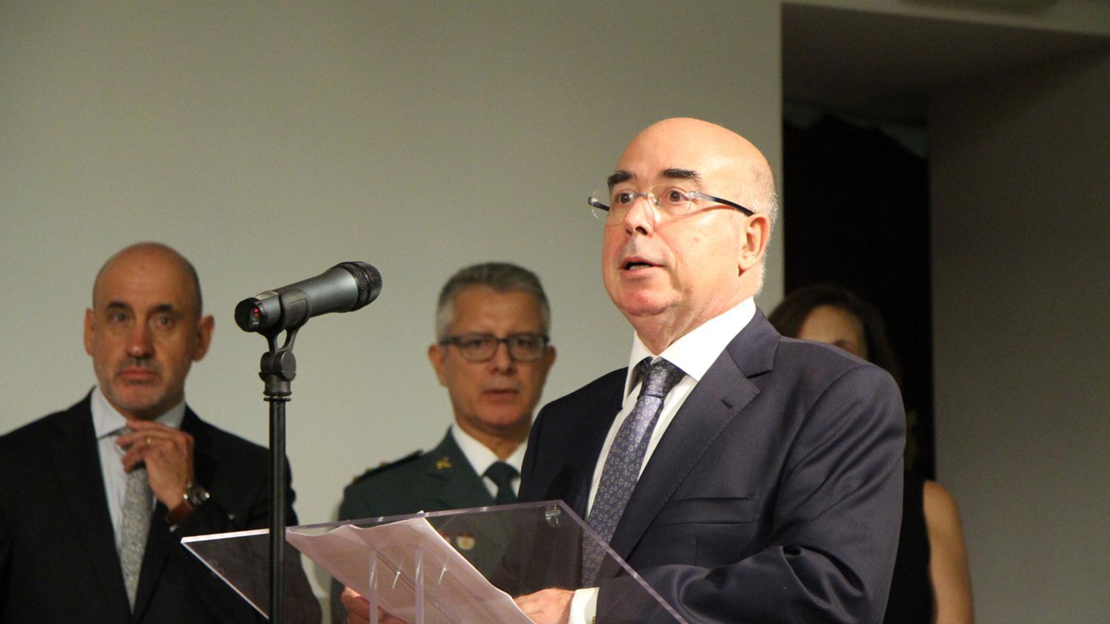 L'ambaixador d'espanya a Andorra, Manuel Montobbio, en un acte institucional celebrat l'octubre passat. / M. M.  (ANA)