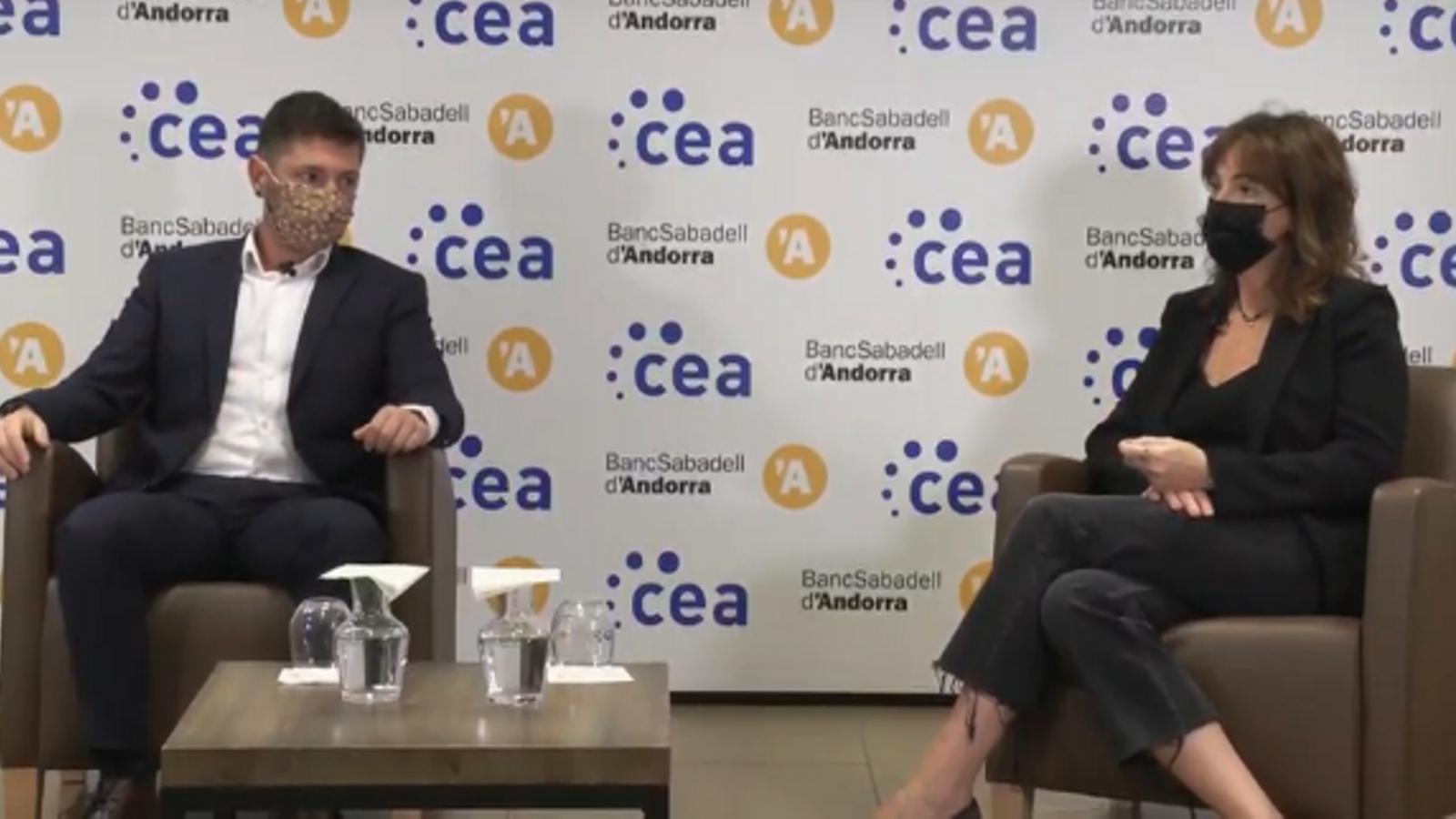 Els empresaris Marc Saladie i Sònia Yebra, a la CEA
