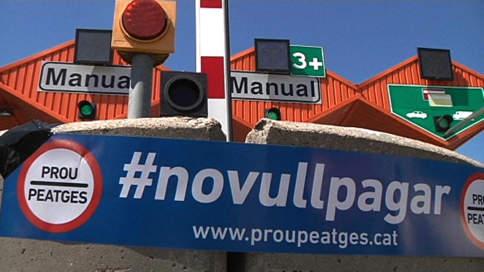 Al peatge de Vilassar: Aquestes autopistes ja estan amortitzades i ja n'hi ha prou