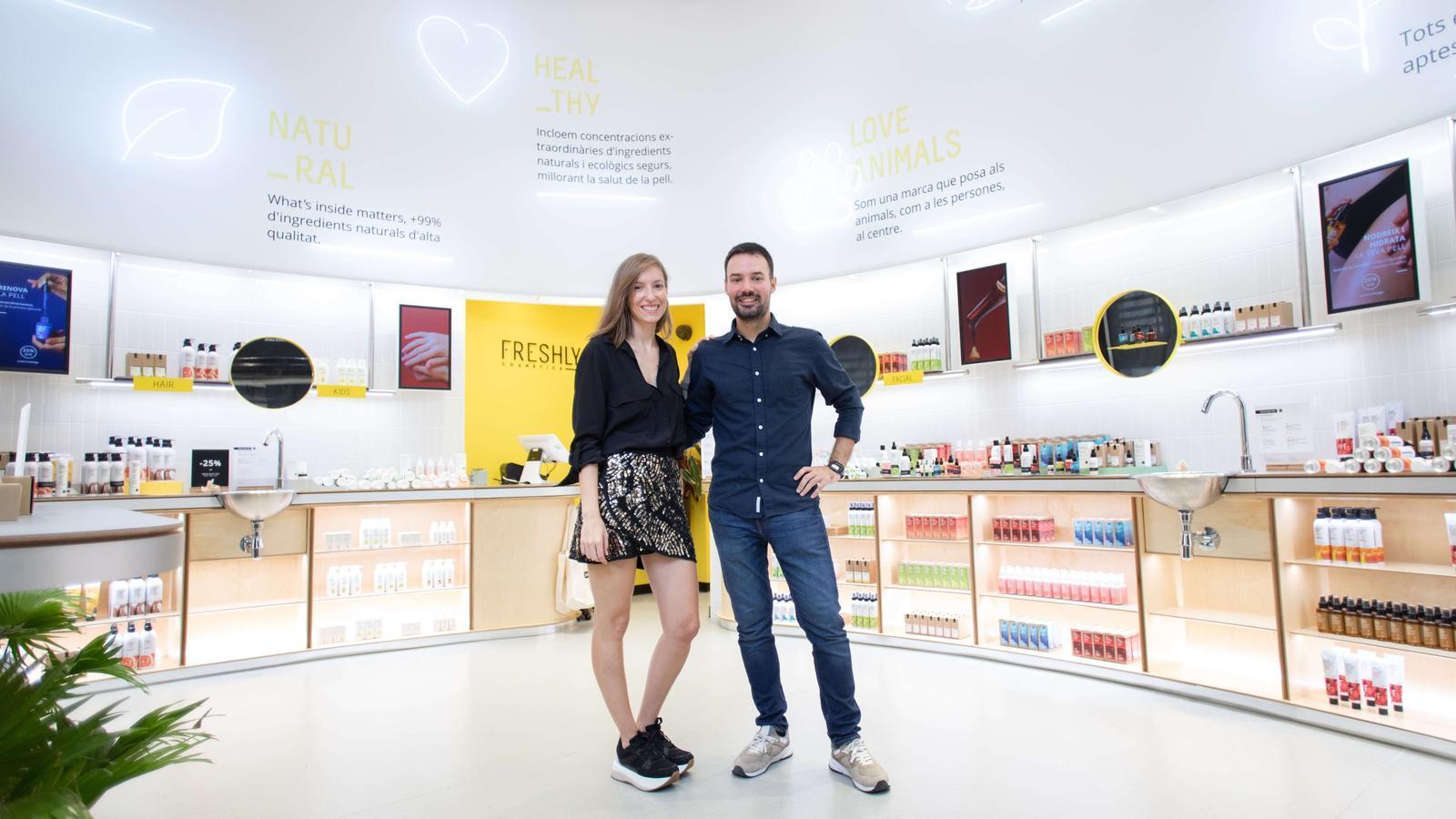 Mireia Trepat i Miquel Antolín, dos dels fundadors de Freshly Cosmetics.