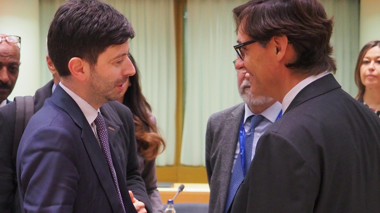El ministre de Sanitat espanyol, Salvador Illa, a la trobada amb la resta de ministres del ram a Brussel·les
