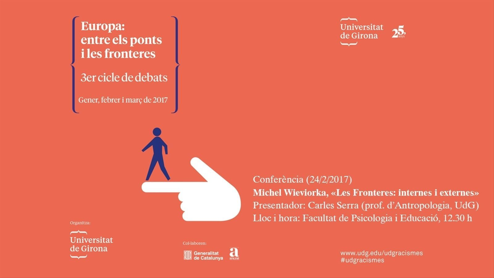 En directe, la conferència 'Les fronteres: internes i externes', a la UdG