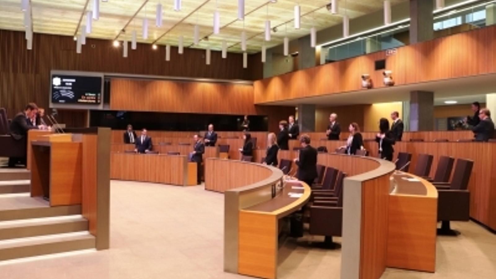 La sessió de Consell General en què es van aprovar els dos textos. / DEMÒCRATES