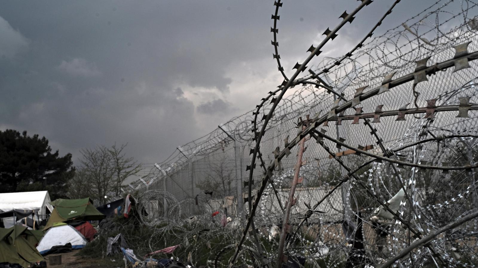 Idomeni, a la frontera de Grècia i Macedònia