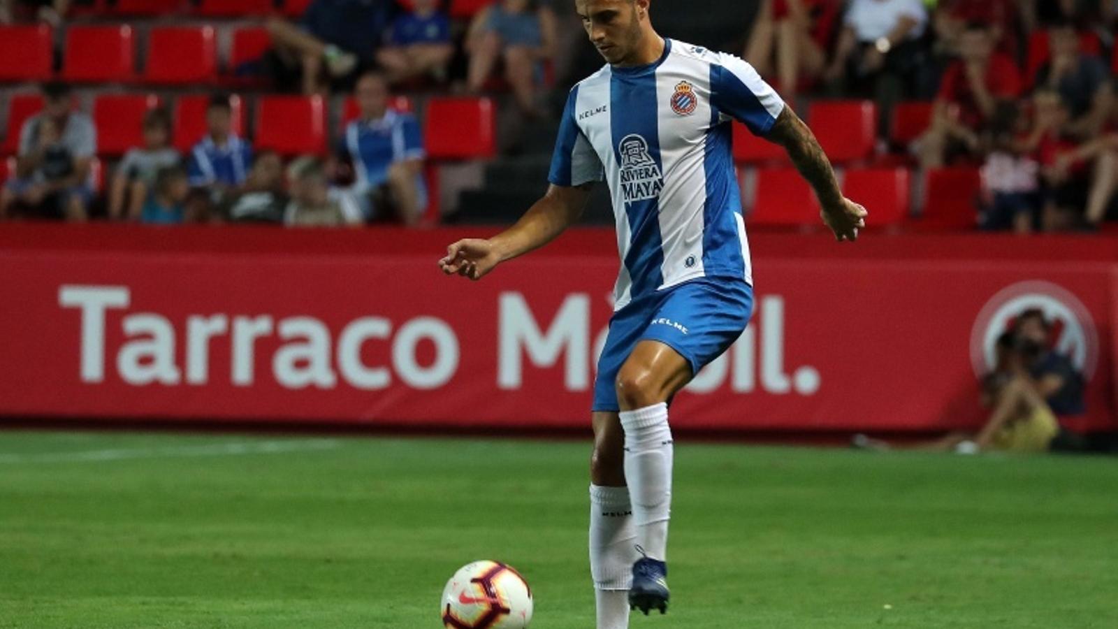 Hermoso, durant un partit amb l'Espanyol a l'estiu