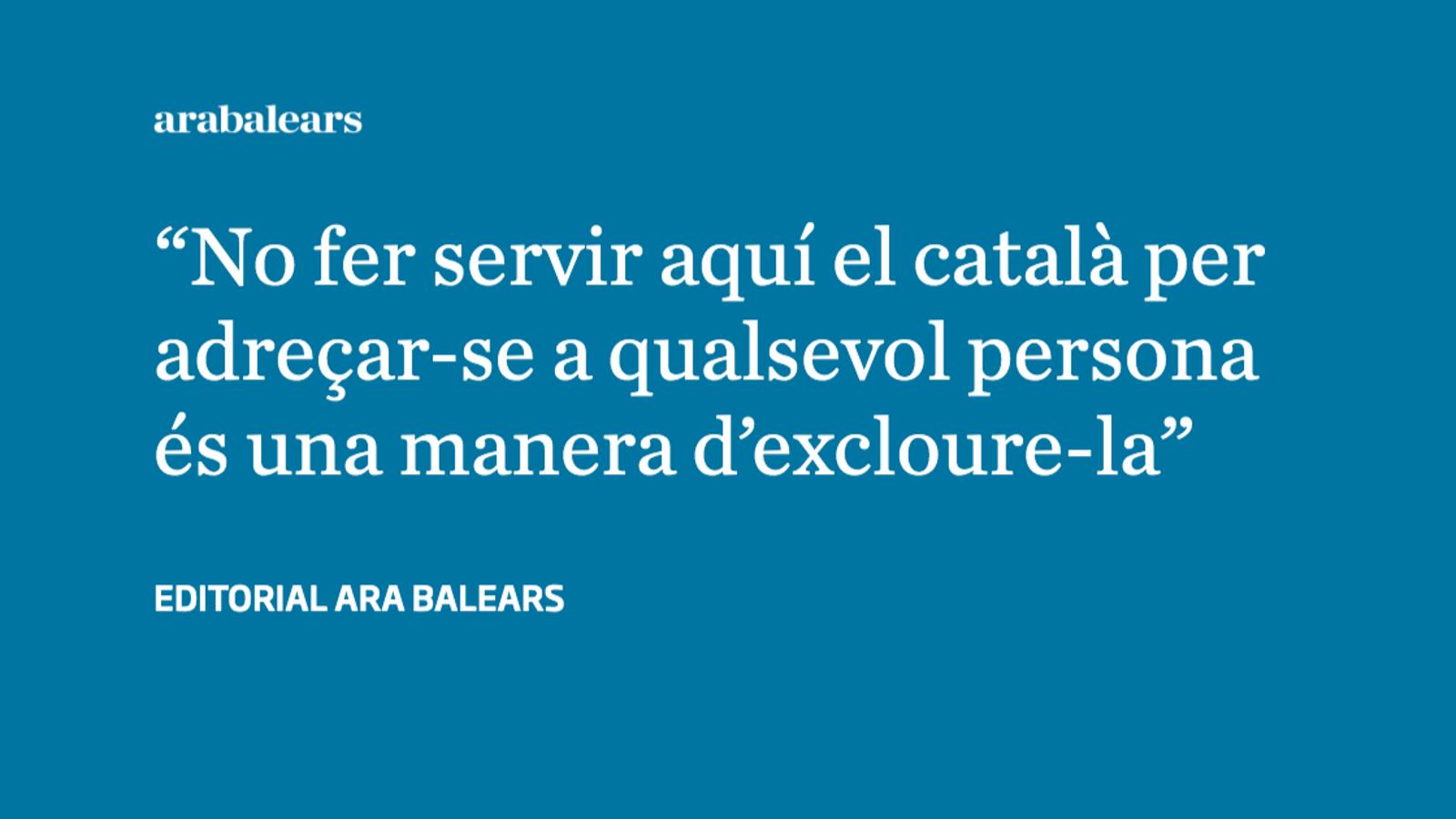 No siguis racista, parla-li en català
