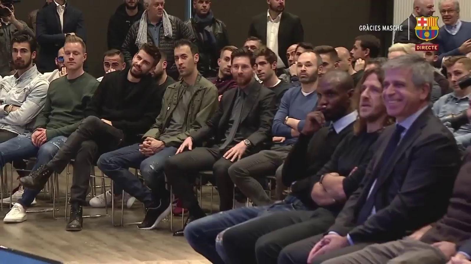 Mascherano s'acomiada del Barça