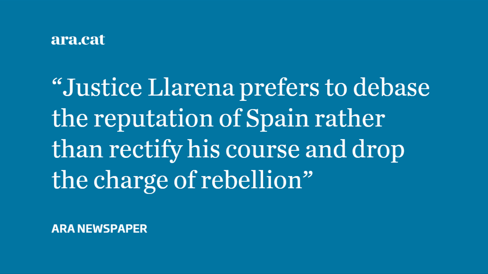 A defeat for Spanish justice