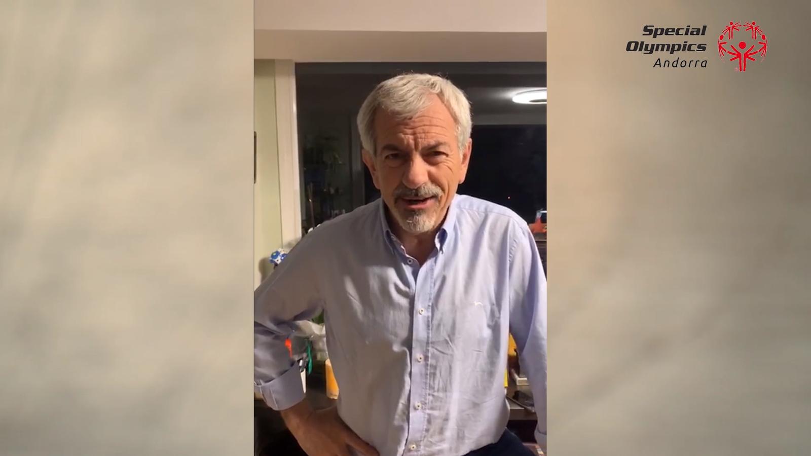 Carlos Sobera envia un missatge d'ànims als esportistes d'Special Olympics Andorra