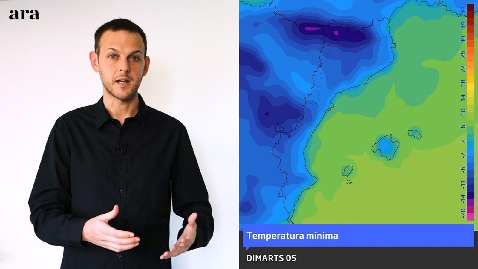 La méteo: la temperatura encara baixarà una mica més