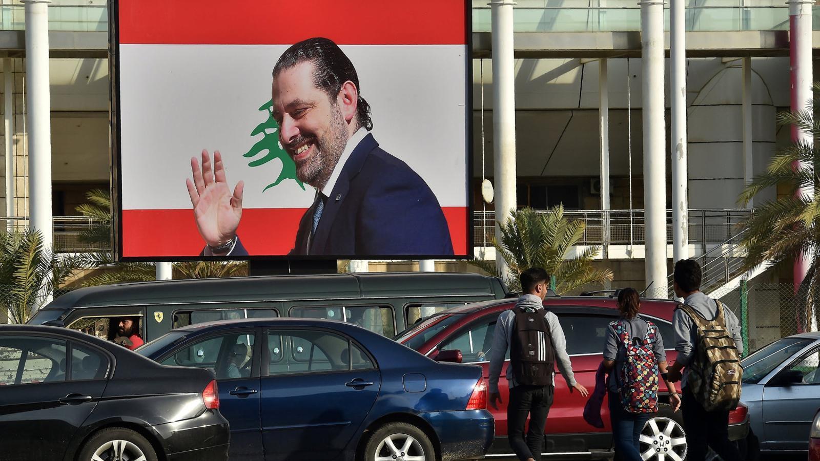 Catifa vermella al retorn de Hariri al Líban