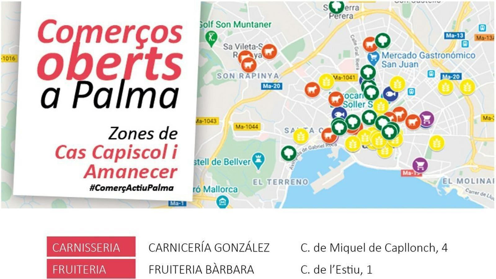 Mapa elaborat per PalmaActiva.