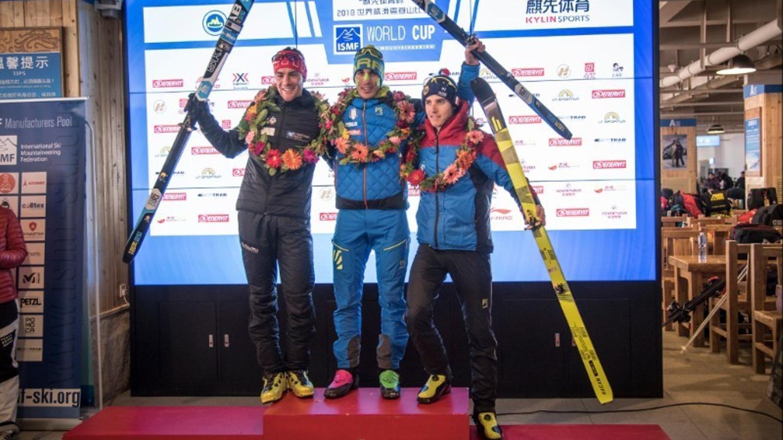 Oriol Cardona, plata a la prova d'esprint de la Copa del món d'esquí de muntanya