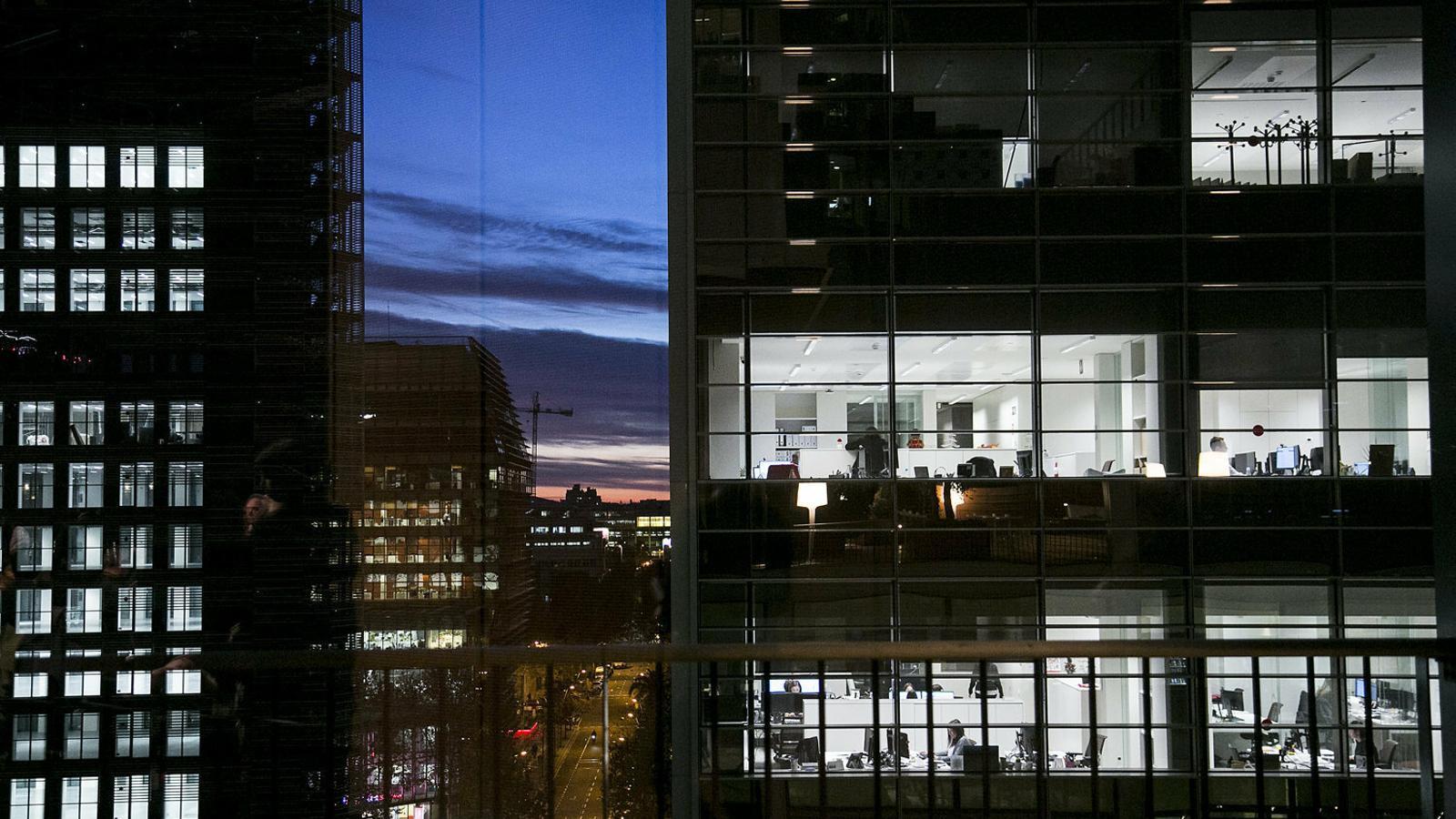 Imatge genèrica d'edificis  d'oficines a Barcelona.
