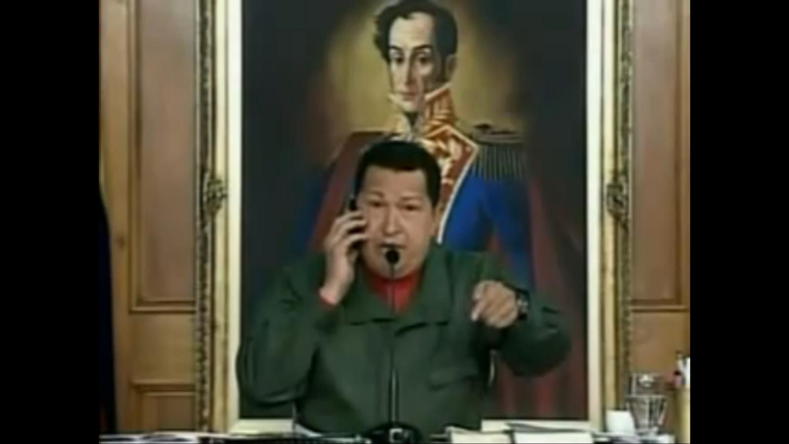 Amenaça televisada de Chávez al president del Banco Provincial