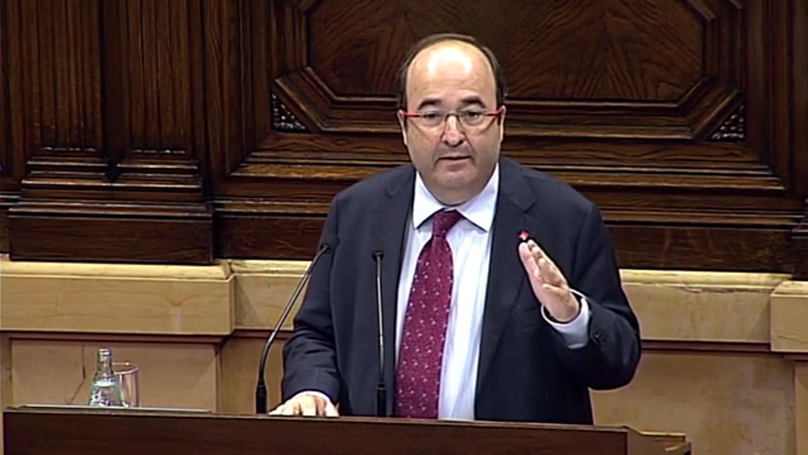 """Iceta a Puigdemont: """"Vostè no té ni legitimitat ni força per imposar una via unilateral"""""""