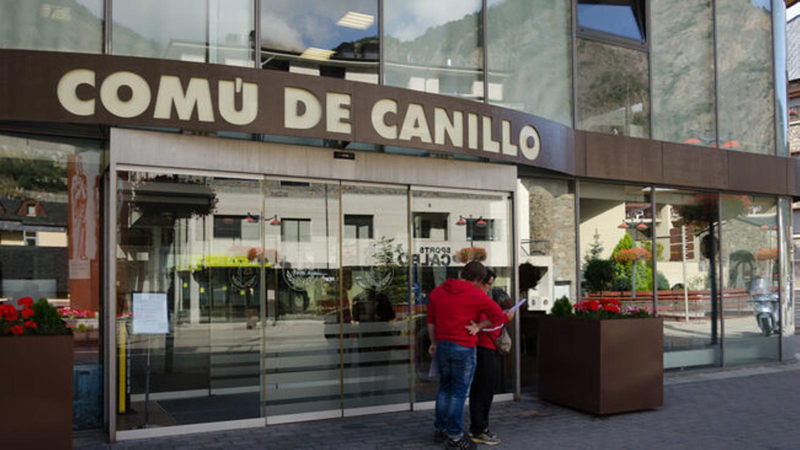 L'entrada al comú de Canillo. / ARXIU