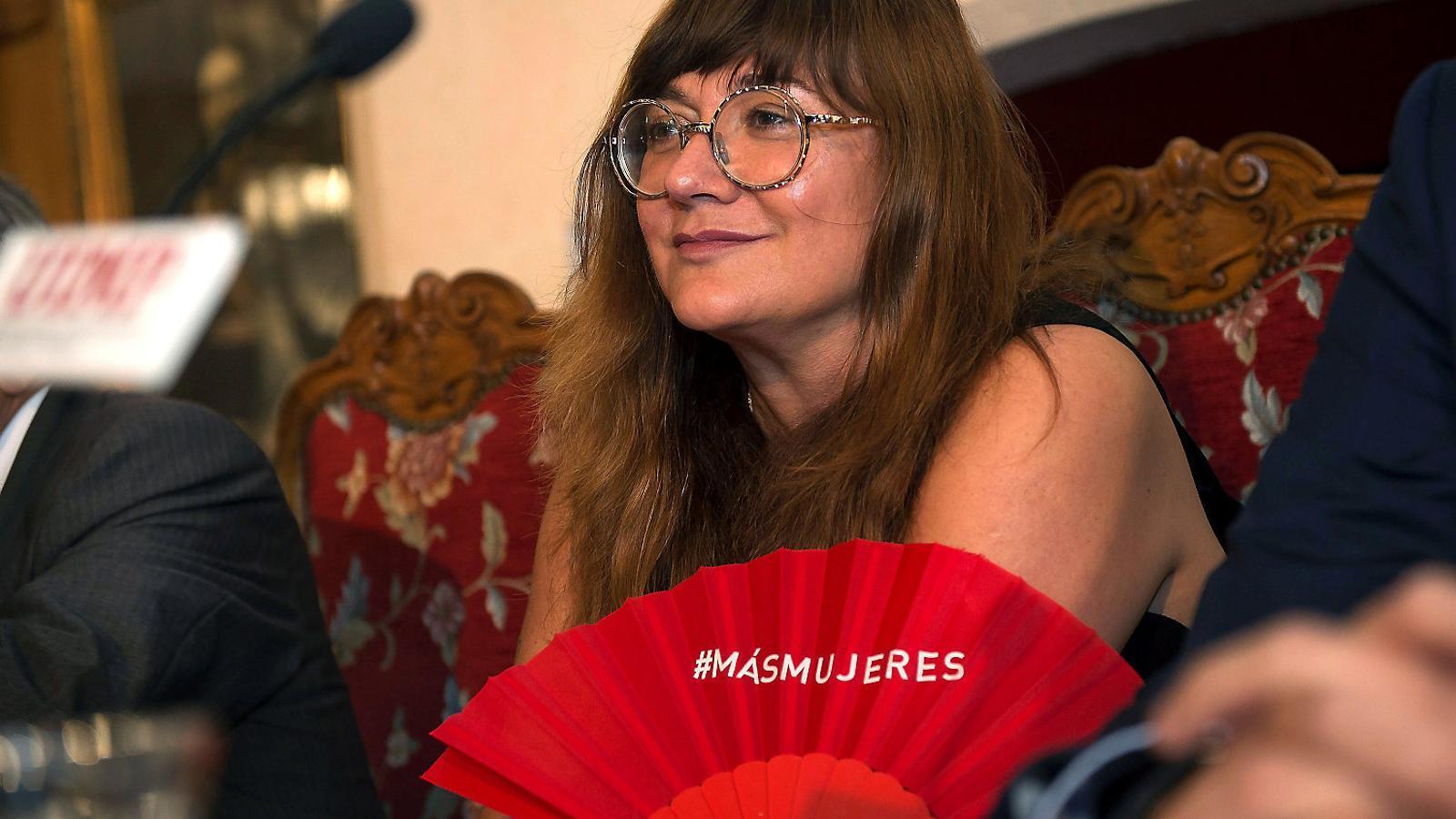 Isabel Coixet en una imatge d'arxiu durant l'entrega el 5 de setembre del premi de cinematografia que concedeix la Universitat Internacional Menéndez Pelayo, a Santander.