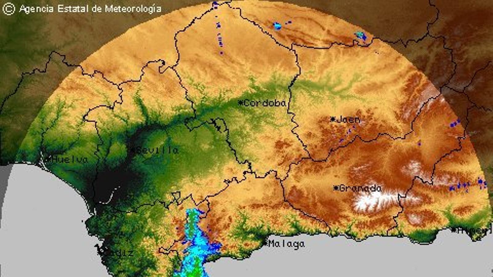 Els forts aiguats han deixat gairebé 400 l/m2 en menys de 12 hores en punts d'Andalusia
