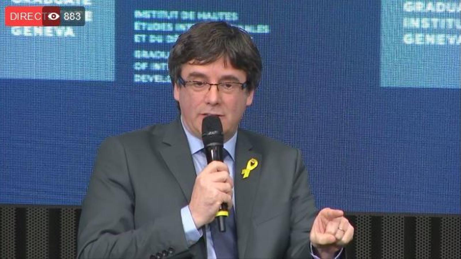 Conferència de Carles Puigdemont a Ginebra