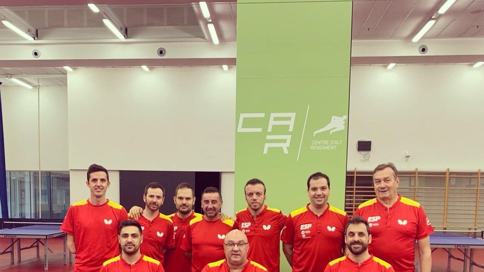 L'equip paralímpic de tenis taula