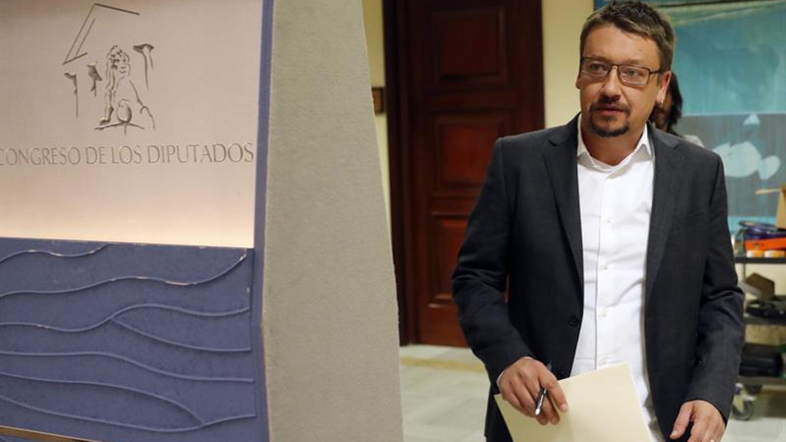 El portaveu d'En Comú Podem, Xavier Domènech, al Congrés