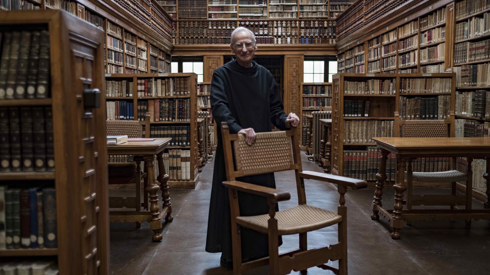 La biblioteca històrica del monestir, només accessible a les  visites especials