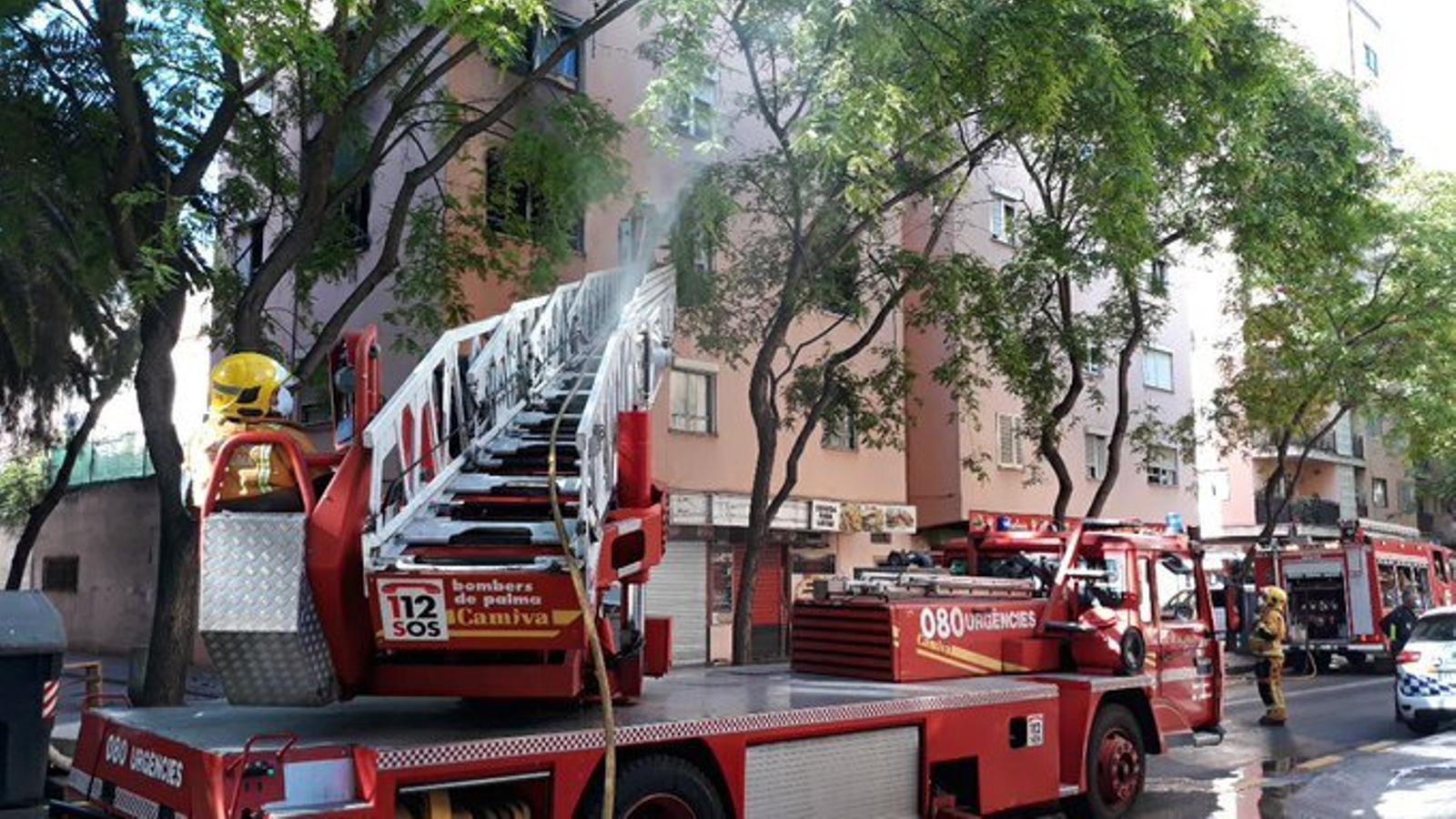 Els bombers de Palma han extingit ràpidament les flames.