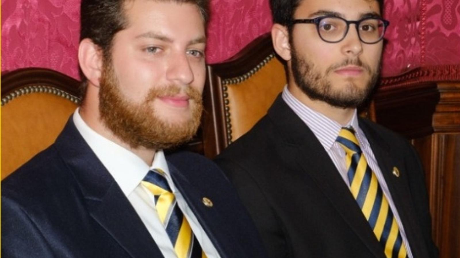 Alexandro Gaffar i Eloy Crussat, els dos regidors de Llibertat Llucmajor, expulsats del pacte de govern.