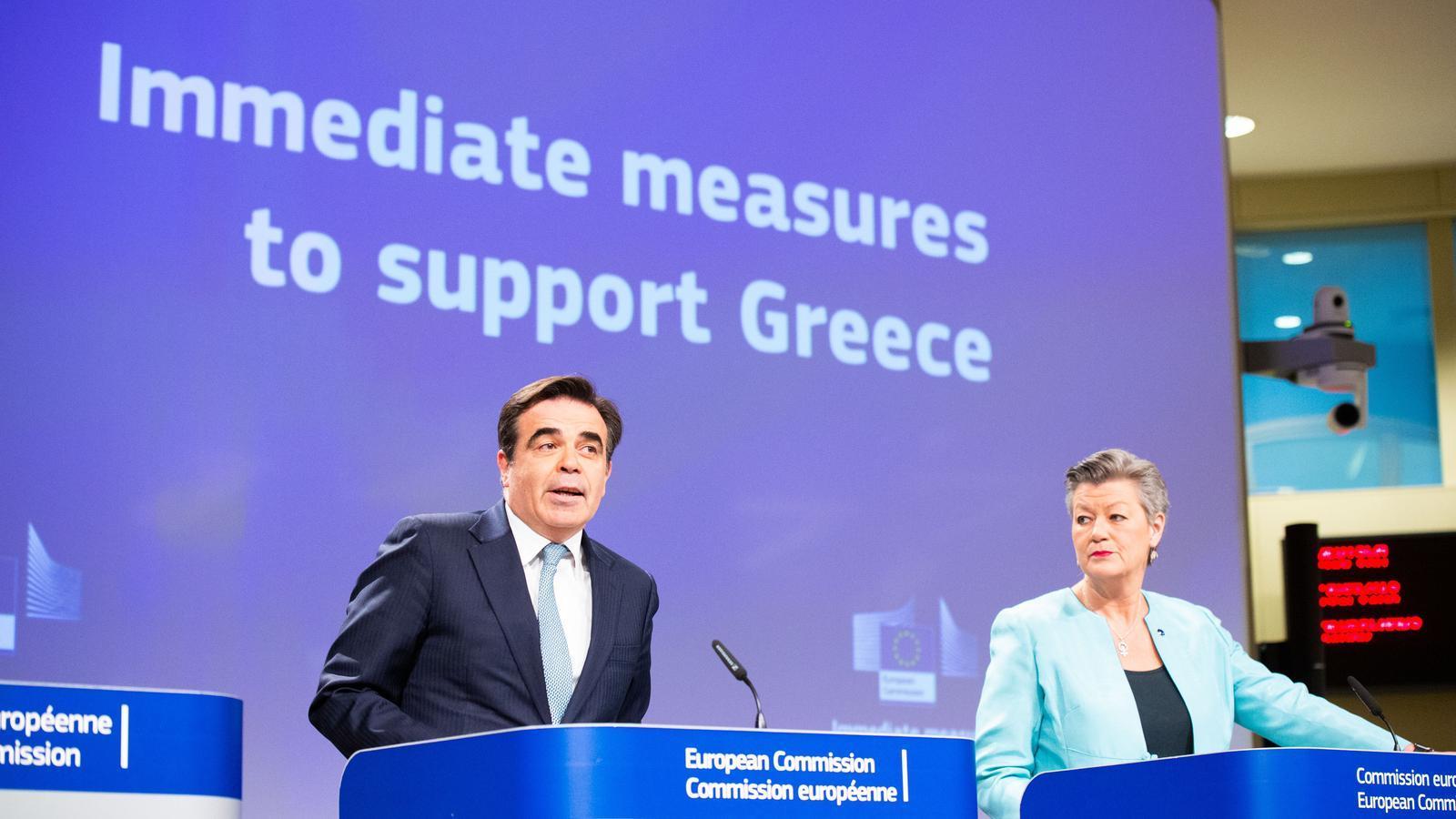 Brussel·les justifica l'ús de bales de goma contra migrants i la suspensió del dret d'asil a Grècia