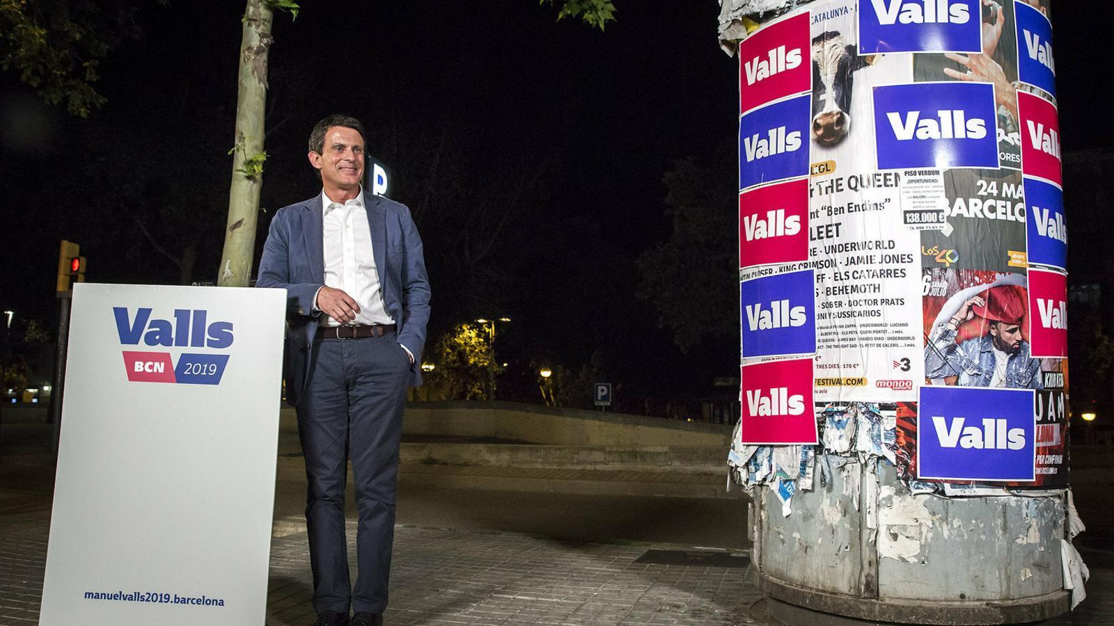 Manuel Valls el dia que va confirmar que es presentava a les eleccions de Barcelona.
