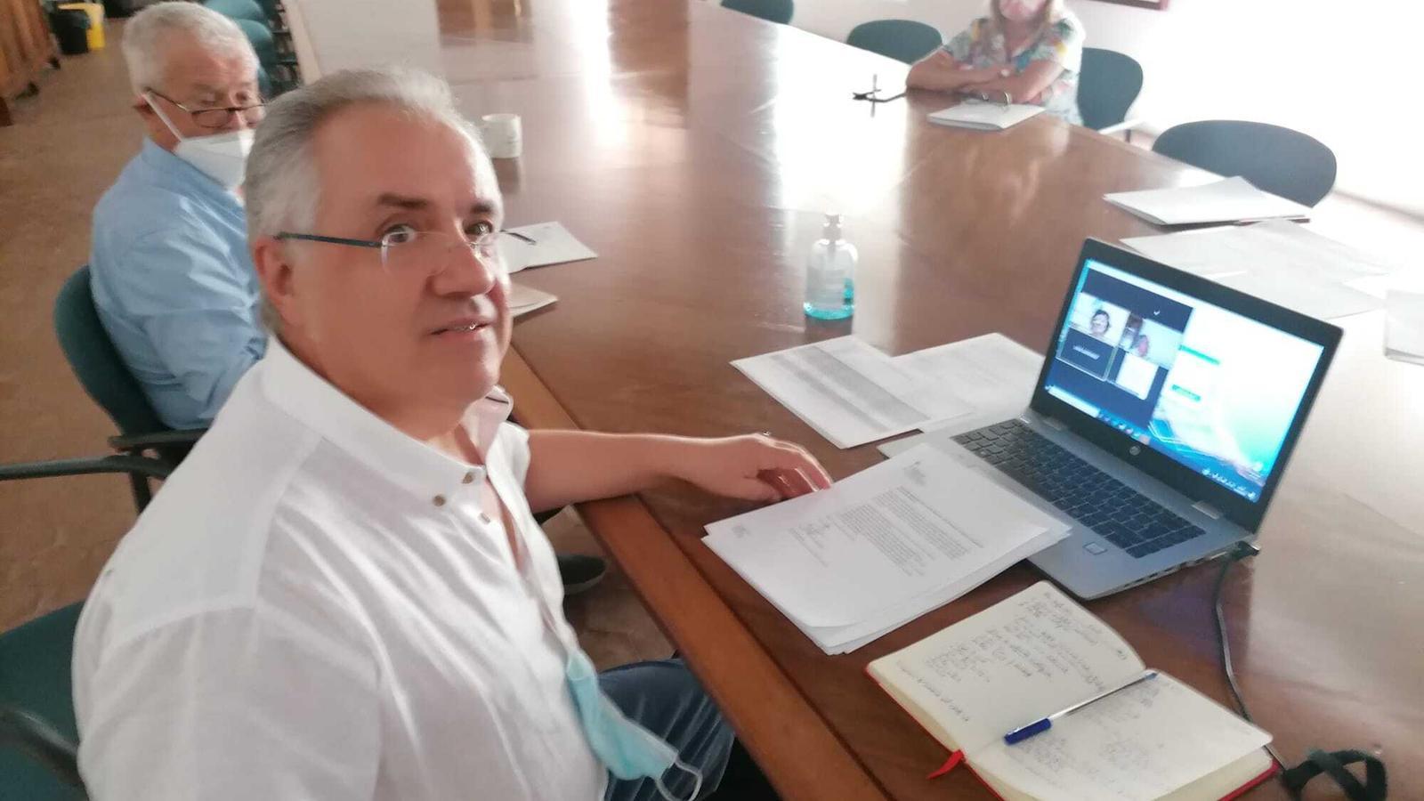 Imatge de la reunió telemàtica.