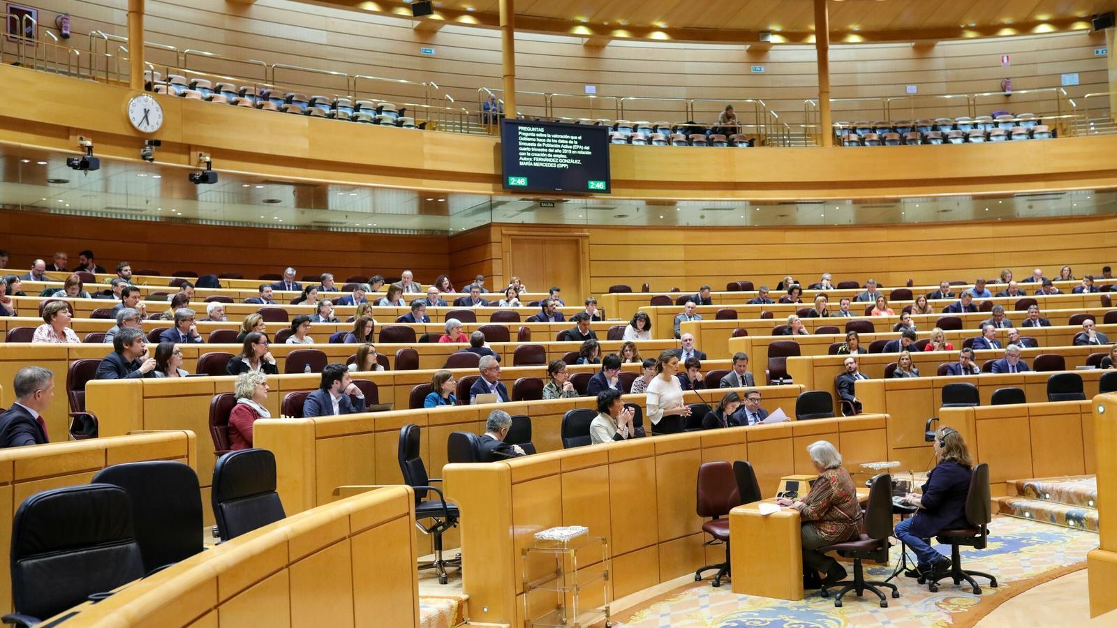 Sessió de control al govern espanyol al Senat