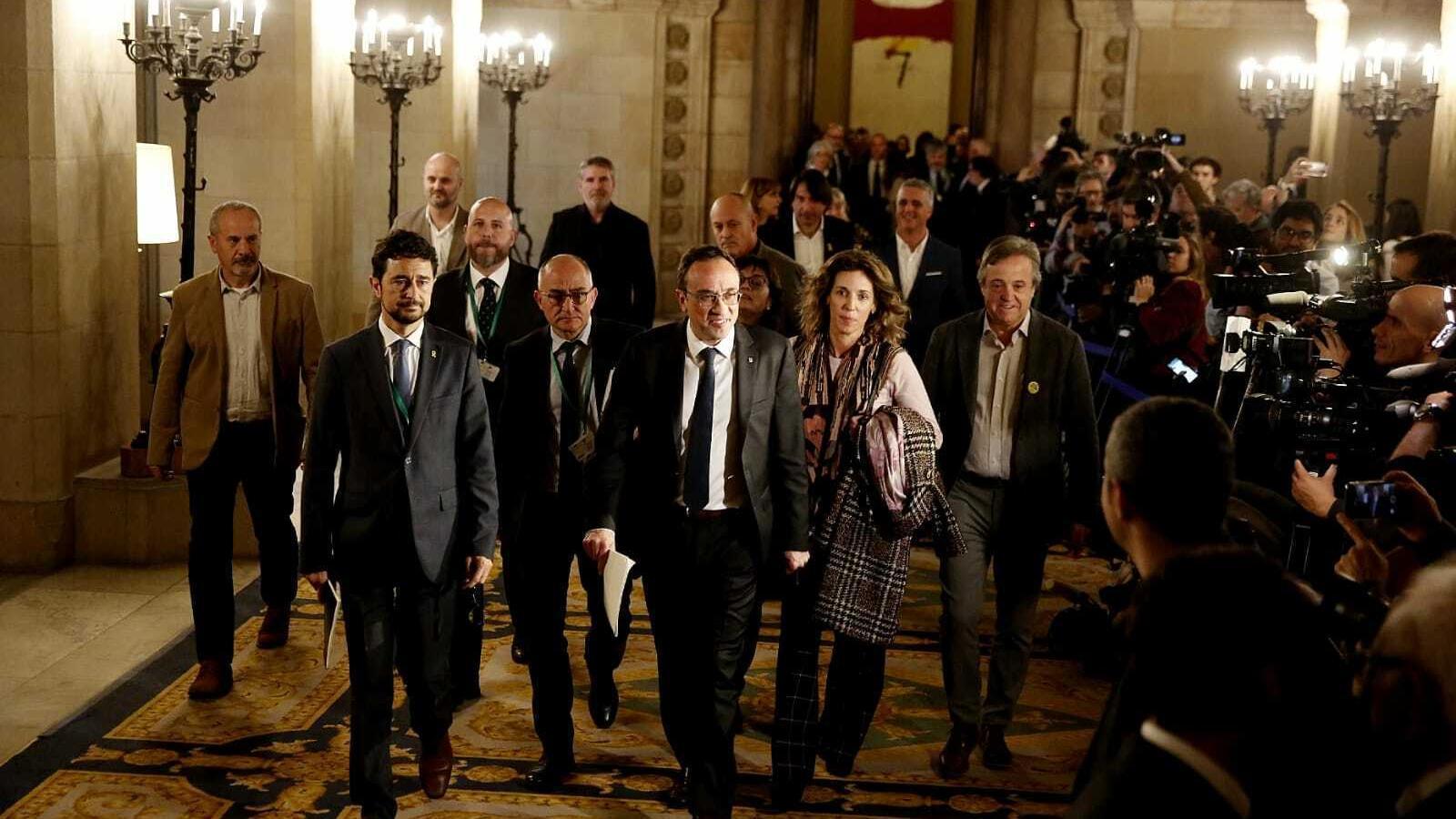 L'exconseller Josep Rull abans d'entrar a la comissió del 155