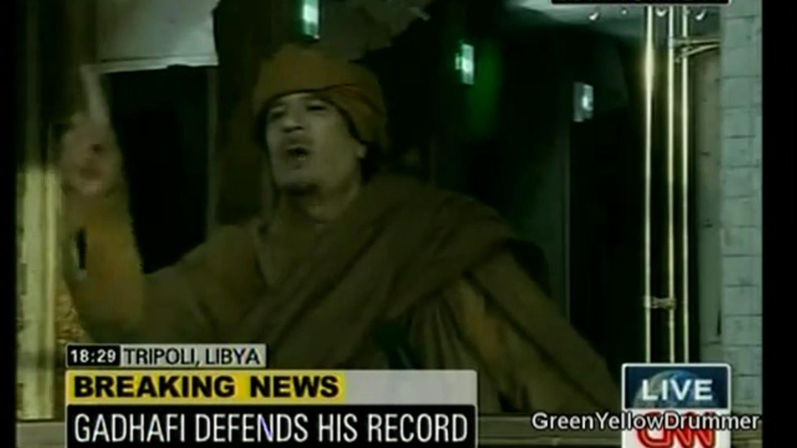 Gaddafi no es mourà del poder libi
