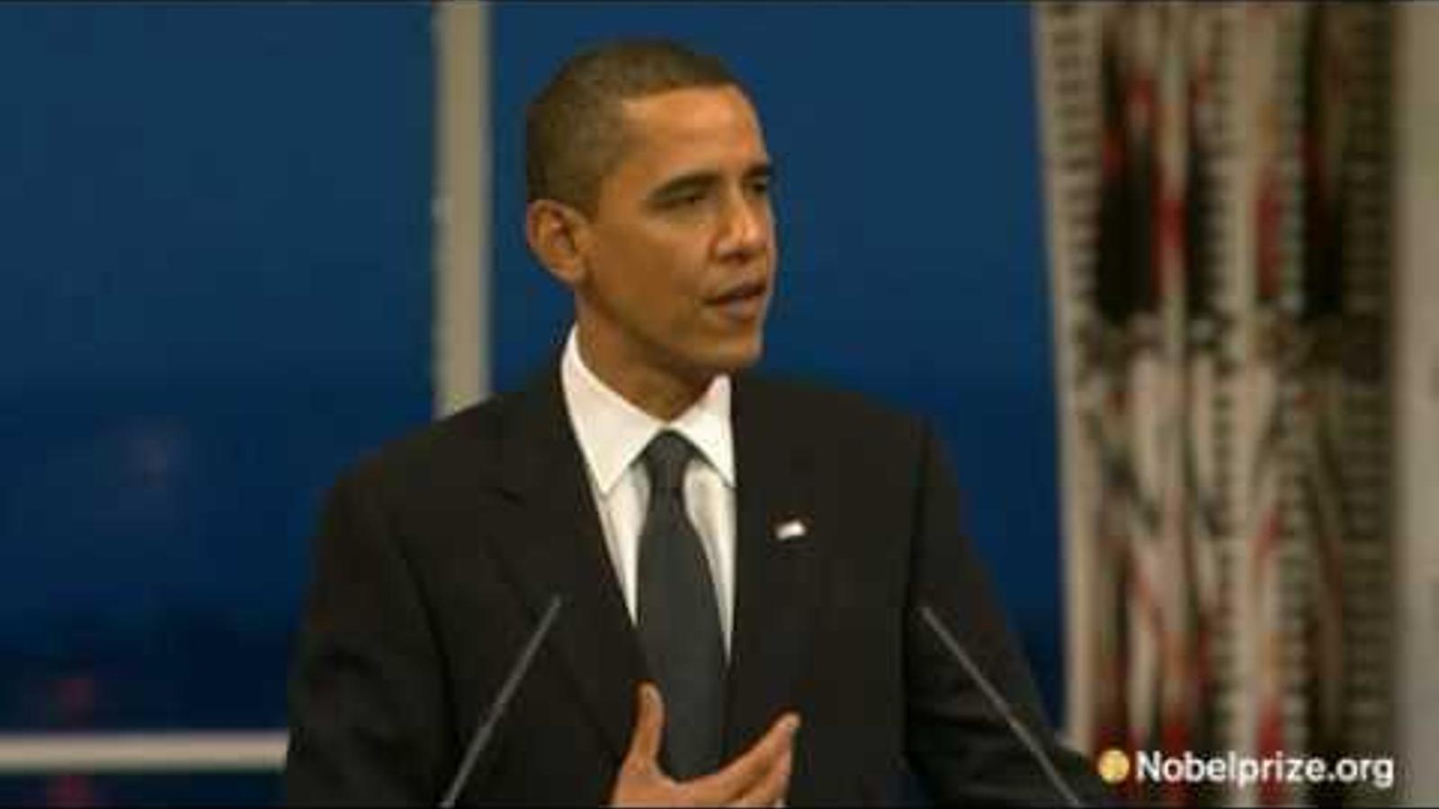 Obama, Premi Nobel de la Pau