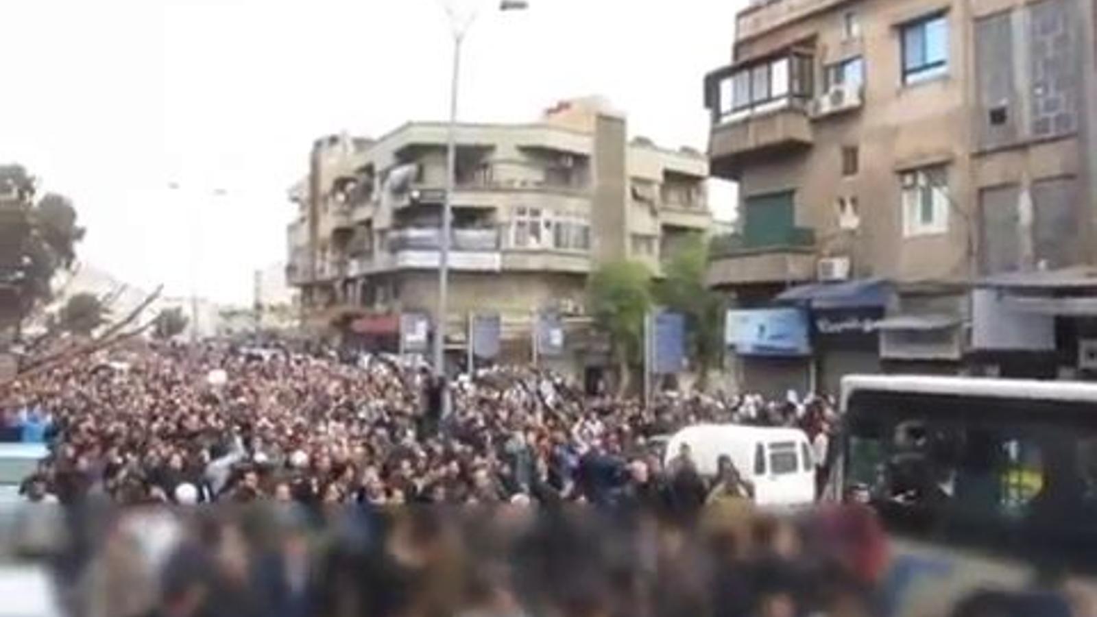Manifestació als suburbis de Damasc