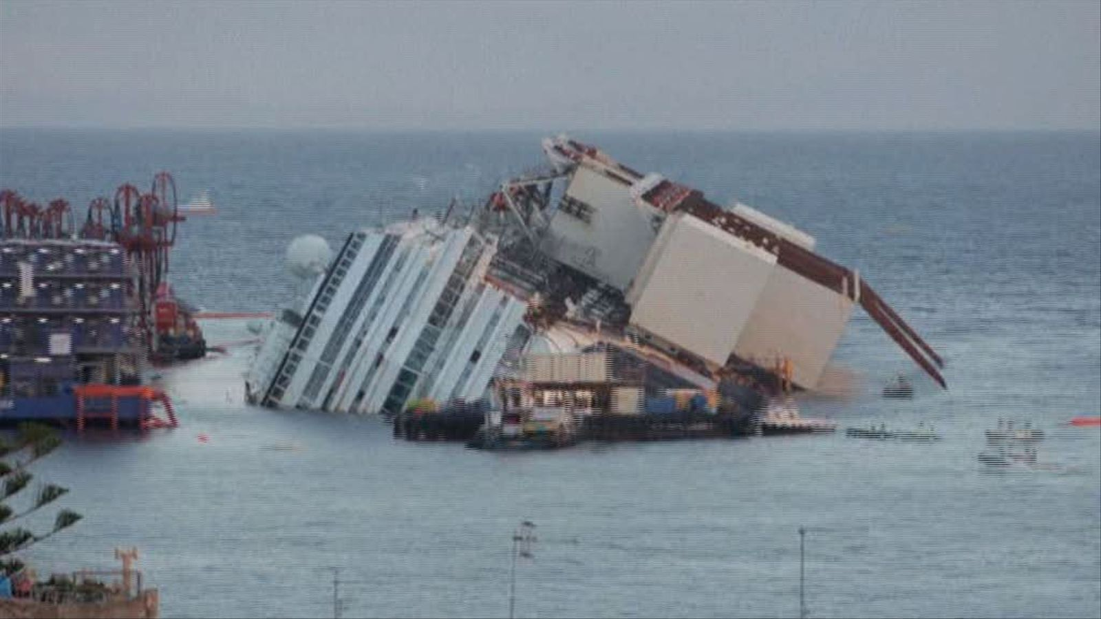 Així s'ha reflotat el 'Costa Concordia': el 'time lapse' en 1 minut