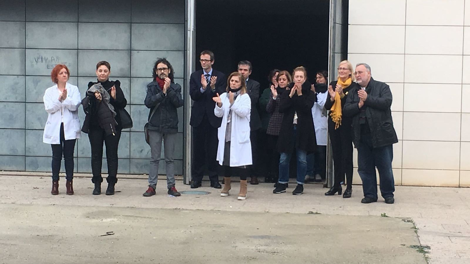 Els conservadors del Museu de Lleida aplaudeixen els manifestants
