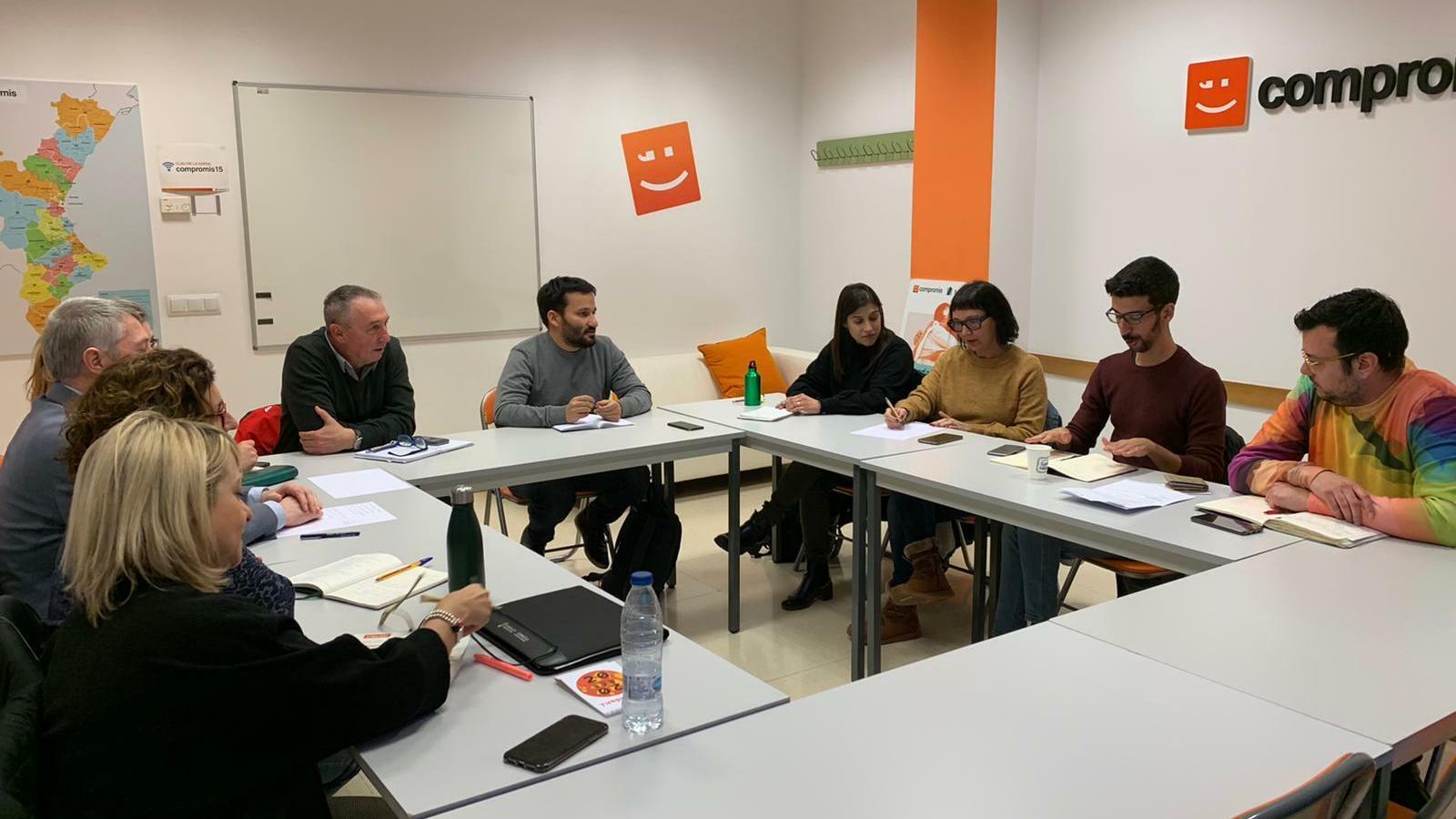 Una reunió de la comissió organitzadora del 8è congrés del Bloc Nacionalista Valencià