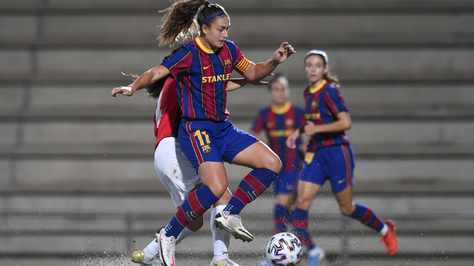 Alexia Putellas en un partit de pretemporada