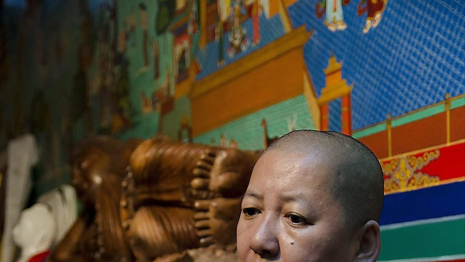 Khandro Rinpoche va ser a Barcelona convidada per la Casa del Tibet per impartir una conferència titulada Ètica i felicitat. / LAURA GÓMEZ