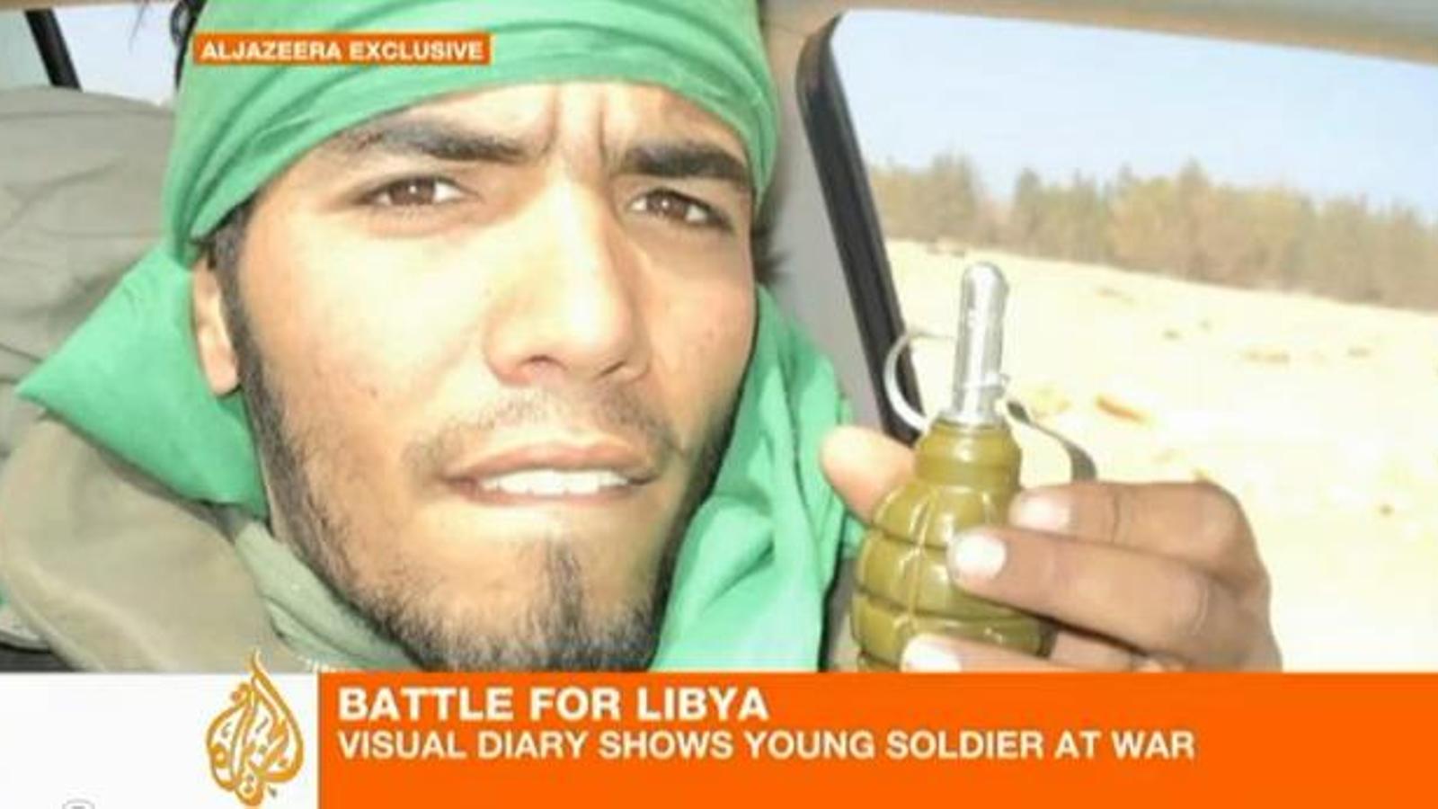 El vídeo que va enregistrar un soldat de Gaddafi al front a Líbia