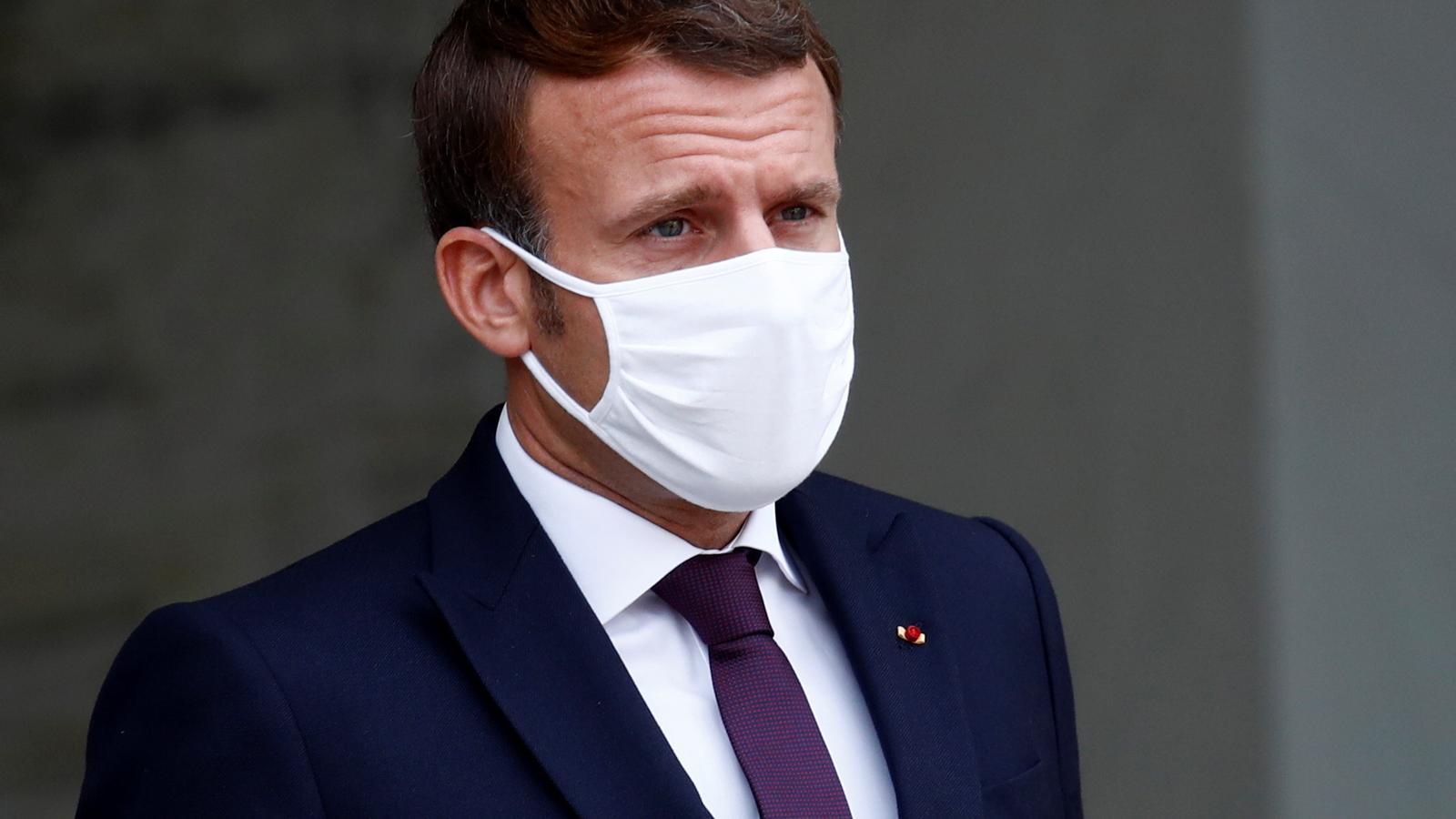 El president francès, Emmanuel Macron, ahir a l'Elisi.