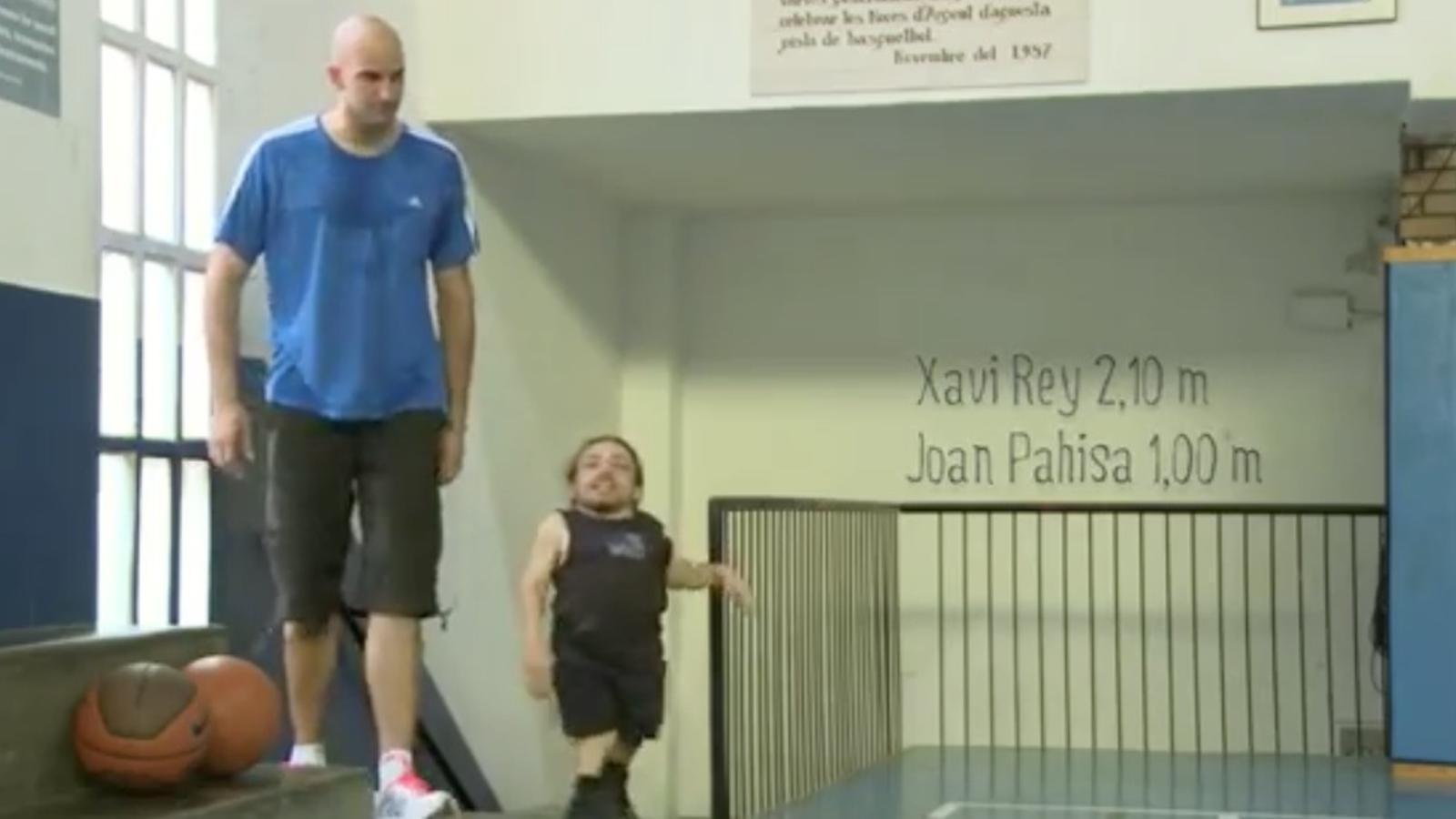 Entrenament de Joan Pahisa i Xavi Rey