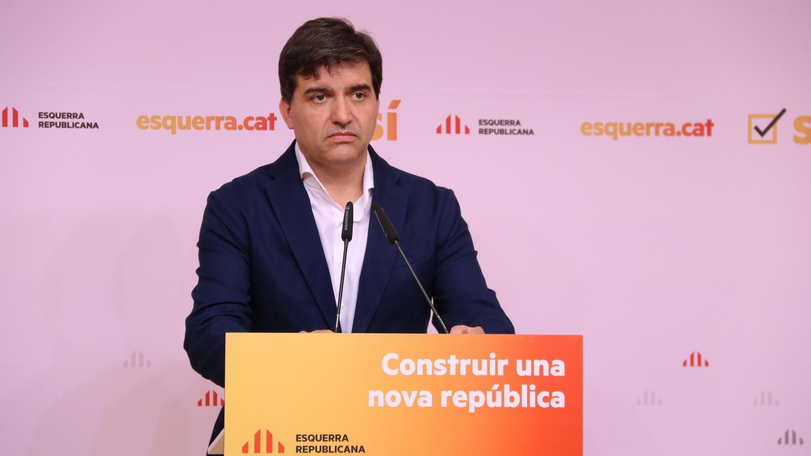 """Sabrià diu que l'abstenció a Sánchez """"era l'única opció coherent"""" i creu que a ERC """"li ha tocat ser la veu del seny"""""""