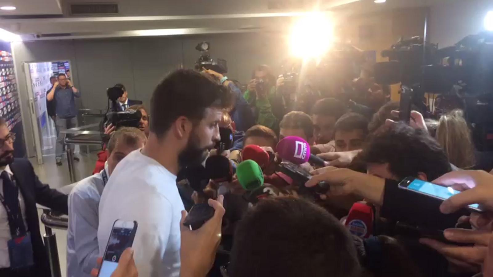 Gerard Piqué, després del partit contra el Las Palmas