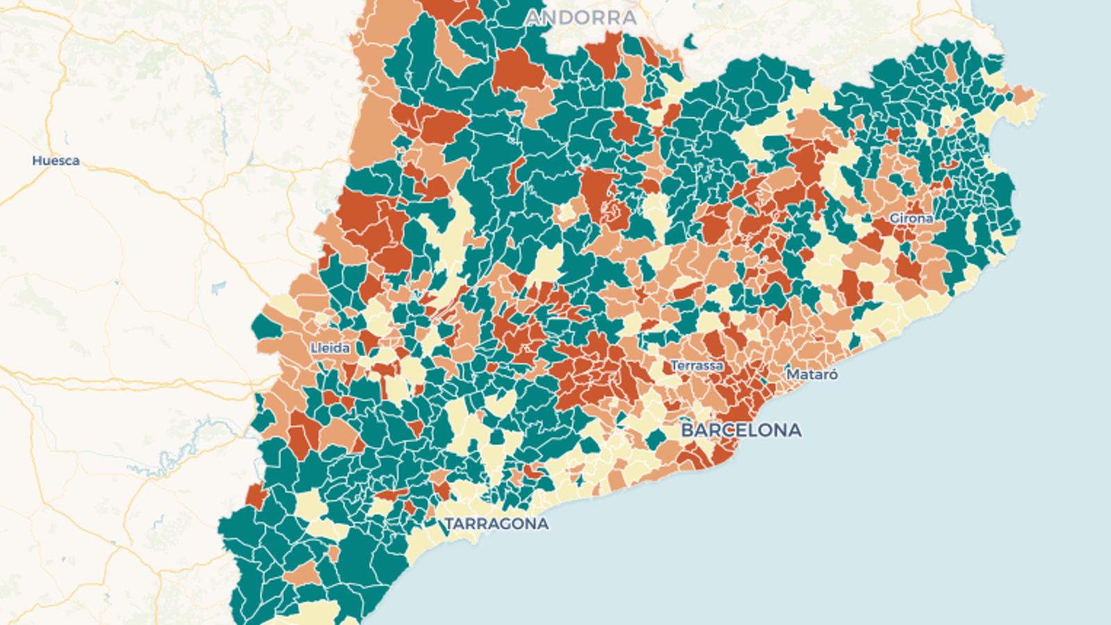 L'afectació del coronavirus, municipi a municipi